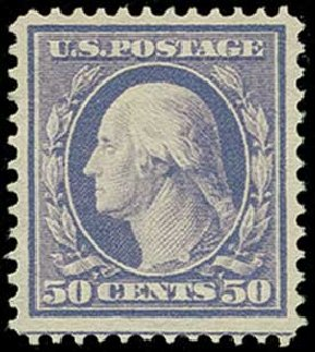 Values of US Stamps Scott Catalogue 341: 1909 50c Washington. H.R. Harmer, Jun 2015, Sale 3007, Lot 3312