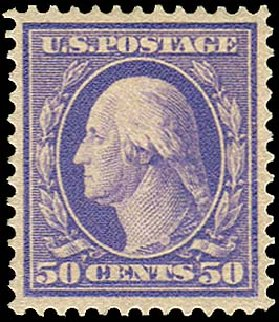 US Stamp Value Scott Catalog #341 - 1909 50c Washington. Regency-Superior, Nov 2014, Sale 108, Lot 722