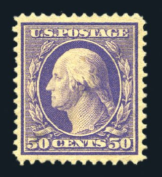 US Stamps Prices Scott Catalogue # 341 - 1909 50c Washington. Harmer-Schau Auction Galleries, Aug 2015, Sale 106, Lot 1763