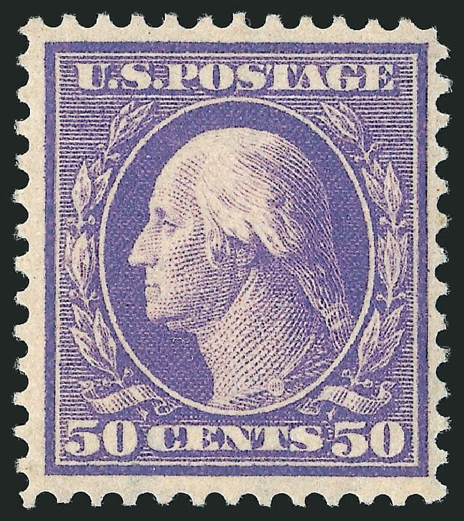 Value of US Stamps Scott 341: 50c 1909 Washington. Robert Siegel Auction Galleries, Apr 2015, Sale 1096, Lot 573