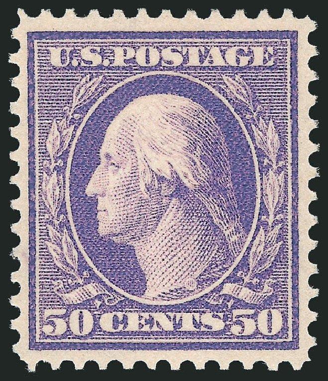 US Stamps Price Scott Catalogue 341: 50c 1909 Washington. Robert Siegel Auction Galleries, Dec 2014, Sale 1090, Lot 1456