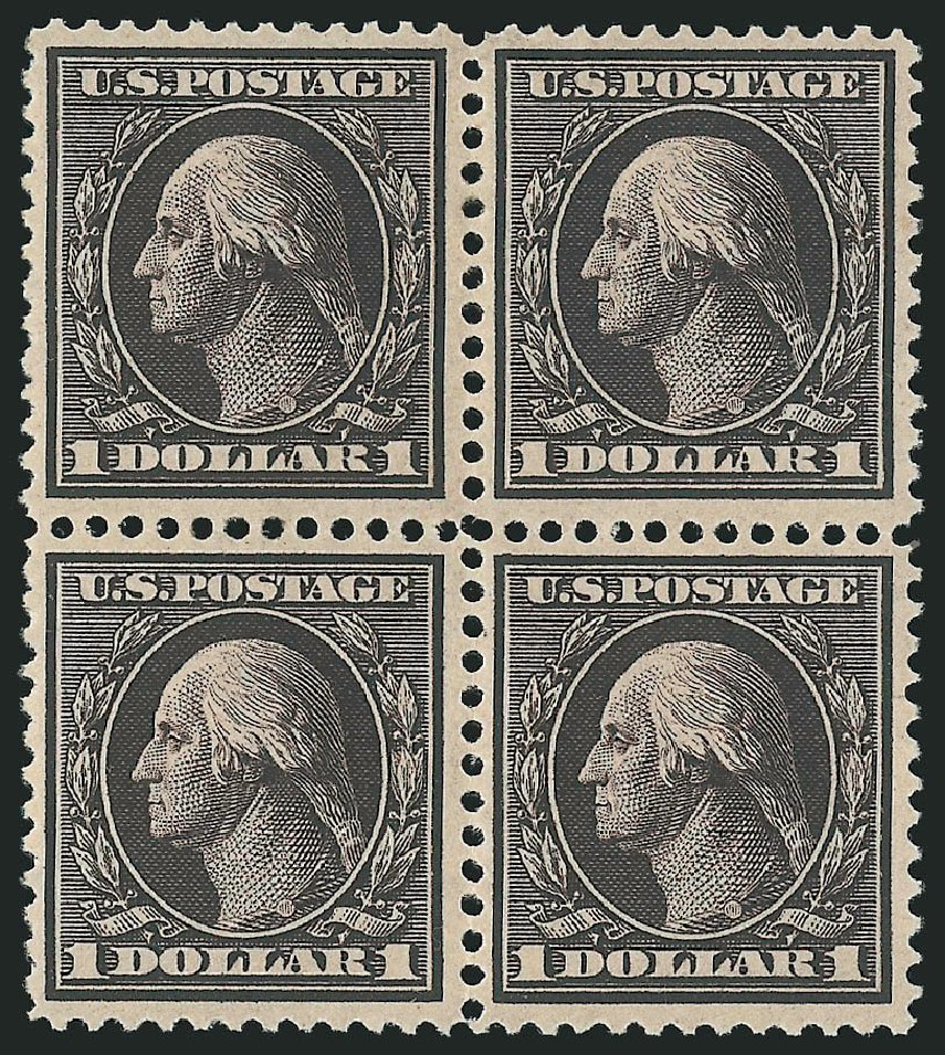 Price of US Stamp Scott Catalog 342 - 1909 US$1.00 Washington. Robert Siegel Auction Galleries, Apr 2015, Sale 1096, Lot 577