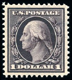Price of US Stamp Scott Catalogue # 342: 1909 US$1.00 Washington. Schuyler J. Rumsey Philatelic Auctions, Apr 2015, Sale 60, Lot 2334
