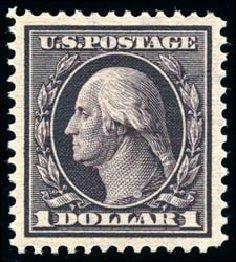 Price of US Stamp Scott Catalogue # 342: 1909 US$1.00 Washington. Schuyler J. Rumsey Philatelic Auctions, Apr 2015, Sale 60, Lot 2334