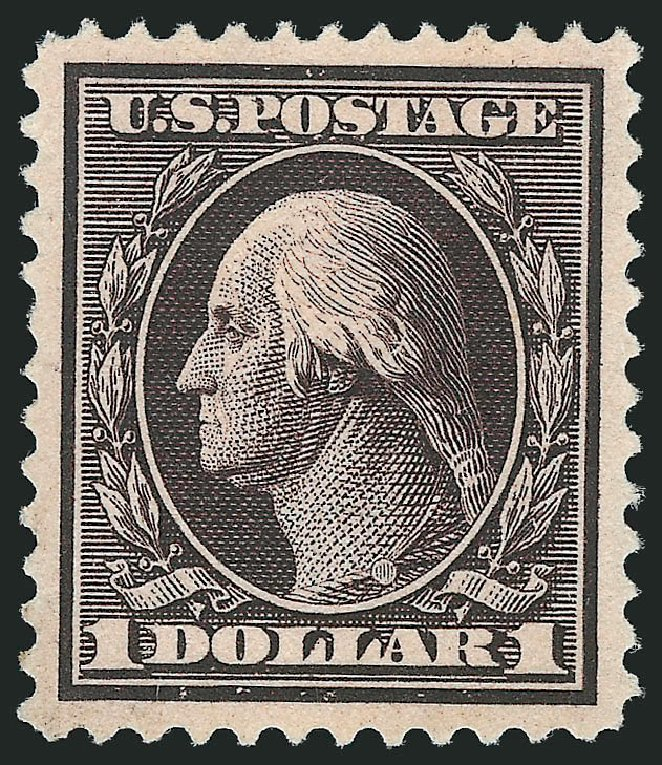 Price of US Stamp Scott #342: US$1.00 1909 Washington. Robert Siegel Auction Galleries, Jun 2015, Sale 1100, Lot 82