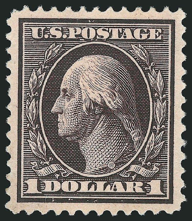 Price of US Stamp Scott #342: US$1.00 1909 Washington. Robert Siegel Auction Galleries, Jun 2015, Sale 1100, Lot 82