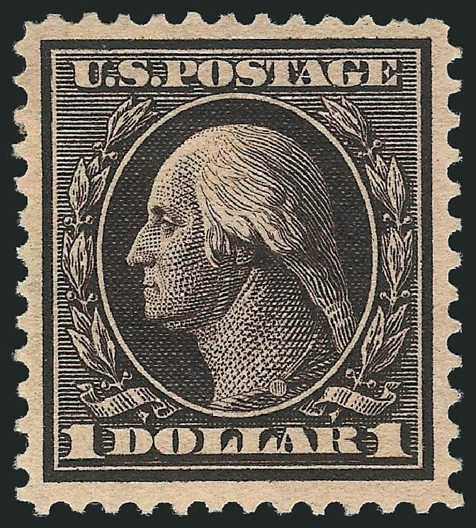 Prices of US Stamp Scott Cat. #342 - US$1.00 1909 Washington. Robert Siegel Auction Galleries, Jul 2015, Sale 1107, Lot 423