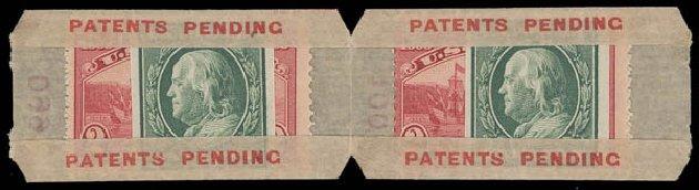 US Stamps Values Scott # 343 - 1c 1908 Franklin Imperf. Daniel Kelleher Auctions, Aug 2015, Sale 672, Lot 2655