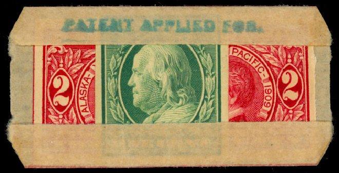 US Stamp Values Scott Catalogue 343: 1c 1908 Franklin Imperf. Daniel Kelleher Auctions, Dec 2013, Sale 640, Lot 326