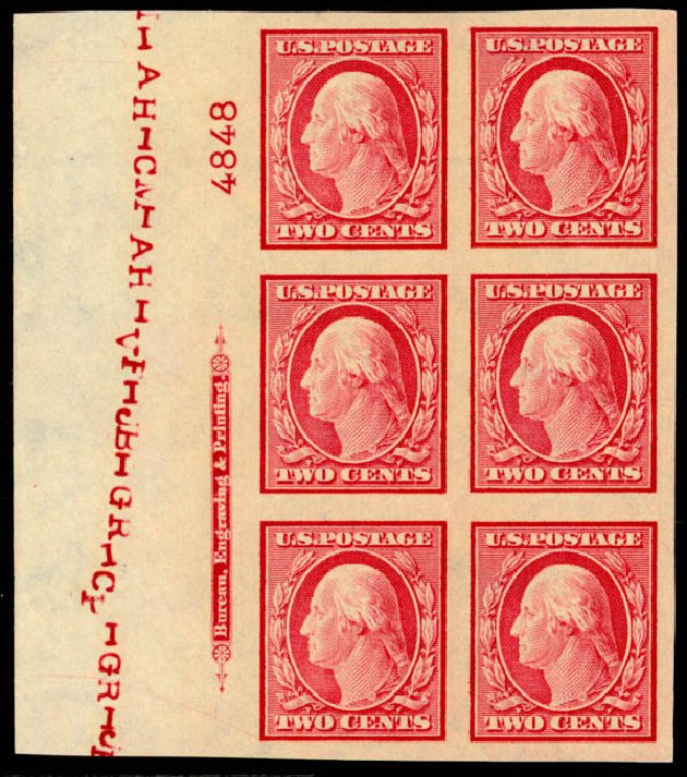 Cost of US Stamp Scott Catalogue #344: 2c 1909 Washington Imperf. Daniel Kelleher Auctions, Mar 2013, Sale 635, Lot 458