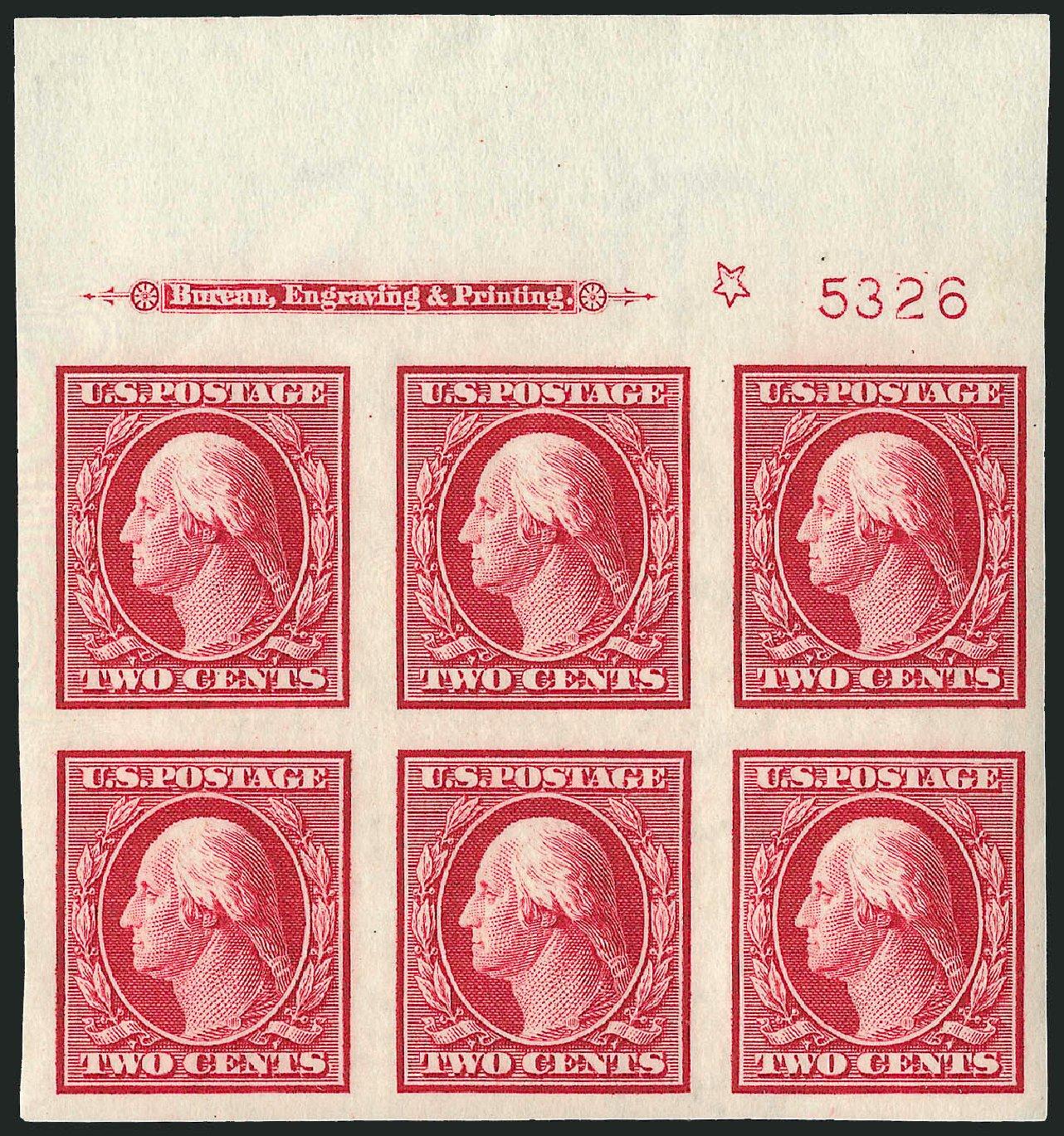 US Stamps Price Scott Cat. #344 - 1909 2c Washington Imperf. Robert Siegel Auction Galleries, Apr 2009, Sale 971, Lot 1538