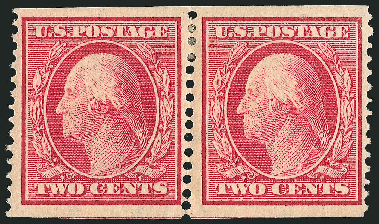Prices of US Stamp Scott Catalogue 344: 2c 1909 Washington Imperf. Robert Siegel Auction Galleries, Nov 2013, Sale 1061, Lot 4241