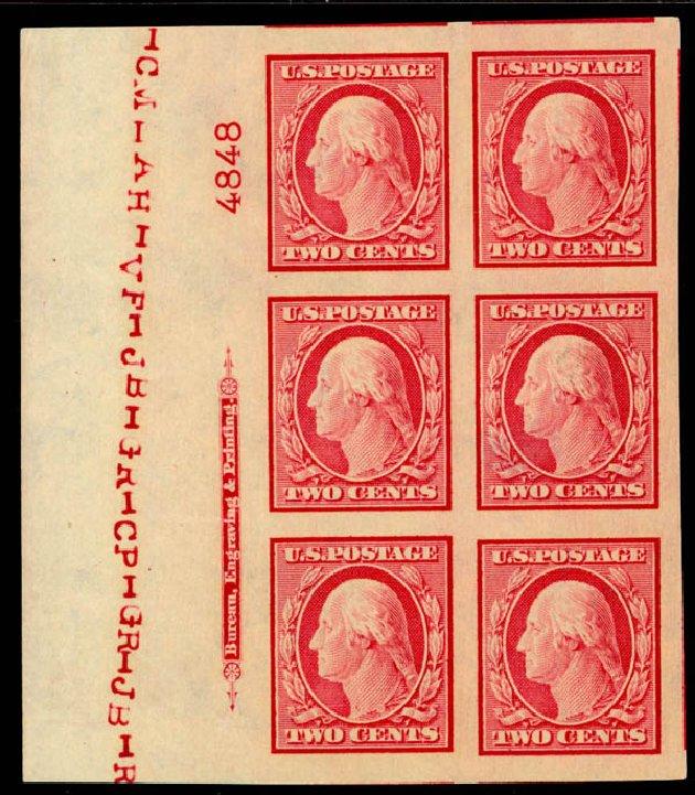US Stamps Value Scott #344: 2c 1909 Washington Imperf. Daniel Kelleher Auctions, Sep 2014, Sale 655, Lot 644
