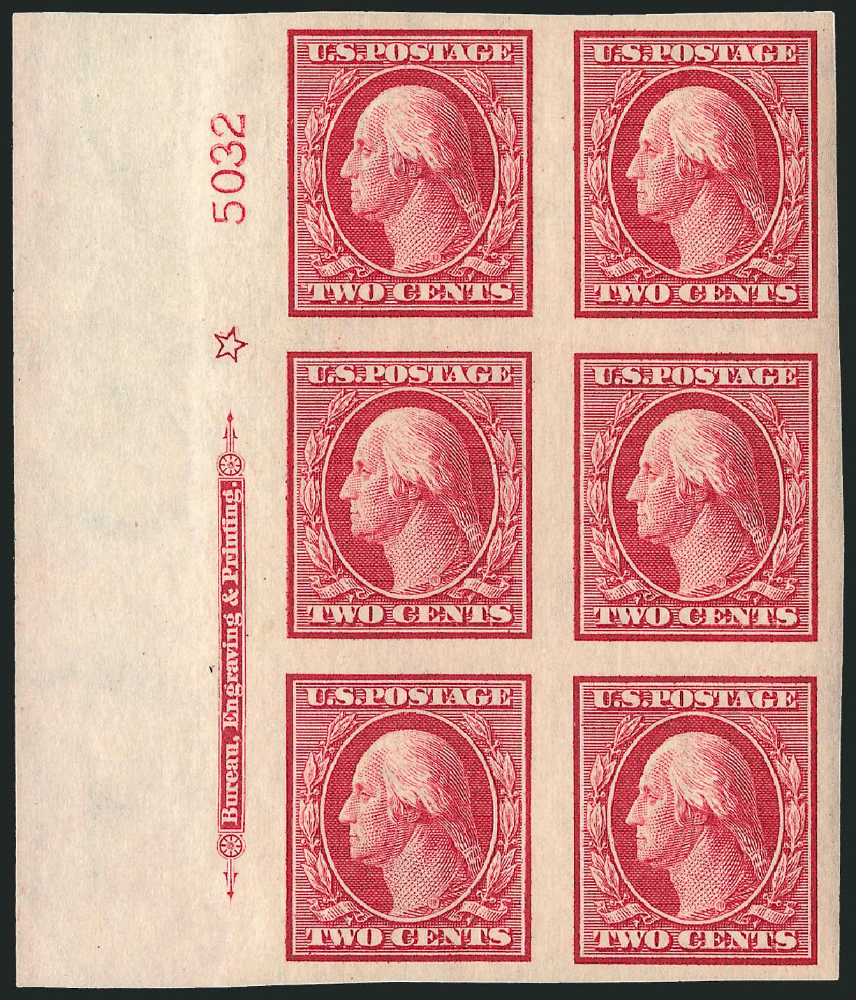 Cost of US Stamp Scott #344: 2c 1909 Washington Imperf. Robert Siegel Auction Galleries, Apr 2009, Sale 971, Lot 1534