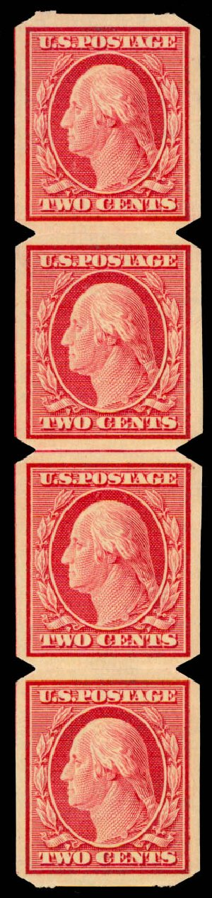 Cost of US Stamp Scott Catalog #344 - 1909 2c Washington Imperf. Daniel Kelleher Auctions, May 2015, Sale 669, Lot 2895