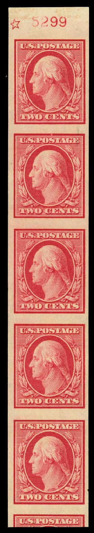 Prices of US Stamp Scott Catalogue 344 - 2c 1909 Washington Imperf. Daniel Kelleher Auctions, Aug 2012, Sale 631, Lot 1113