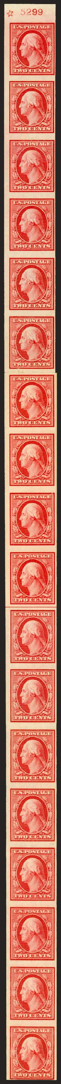 Cost of US Stamp Scott Cat. #344: 1909 2c Washington Imperf. Robert Siegel Auction Galleries, Jun 2010, Sale 992, Lot 2433