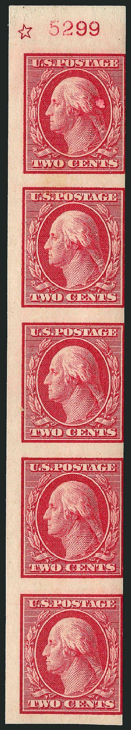 Values of US Stamps Scott 344: 1909 2c Washington Imperf. Robert Siegel Auction Galleries, Dec 2009, Sale 982, Lot 5736