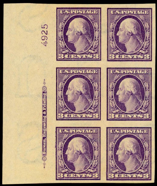 Price of US Stamp Scott Catalog #345 - 3c 1909 Washington Imperf. Daniel Kelleher Auctions, Mar 2013, Sale 635, Lot 459