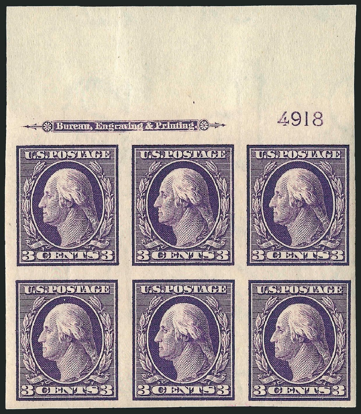 Price of US Stamp Scott Catalog 345: 3c 1909 Washington Imperf. Robert Siegel Auction Galleries, Apr 2009, Sale 971, Lot 1539