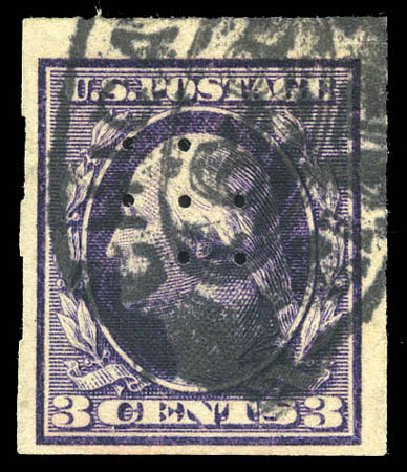 Costs of US Stamp Scott # 345: 1909 3c Washington Imperf. Matthew Bennett International, Mar 2011, Sale 336, Lot 1373