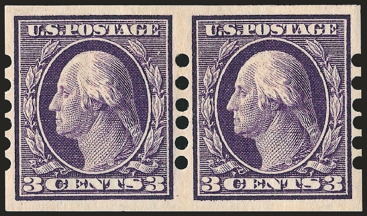 Price of US Stamps Scott Cat. #345: 1909 3c Washington Imperf. Robert Siegel Auction Galleries, Dec 2008, Sale 967, Lot 4593