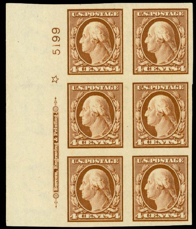 US Stamp Prices Scott Catalog #346: 4c 1909 Washington Imperf. Daniel Kelleher Auctions, Sep 2014, Sale 655, Lot 645