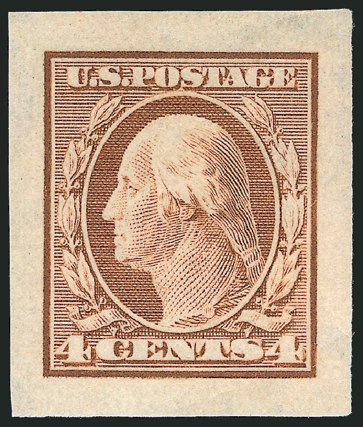 Price of US Stamp Scott Cat. 346: 1909 4c Washington Imperf. Robert Siegel Auction Galleries, Nov 2013, Sale 1061, Lot 3855