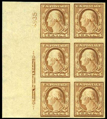 Prices of US Stamps Scott Cat. 346: 4c 1909 Washington Imperf. Harmer-Schau Auction Galleries, May 2013, Sale 97, Lot 373