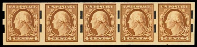 US Stamps Prices Scott Catalog #346: 4c 1909 Washington Imperf. Daniel Kelleher Auctions, May 2015, Sale 669, Lot 2896