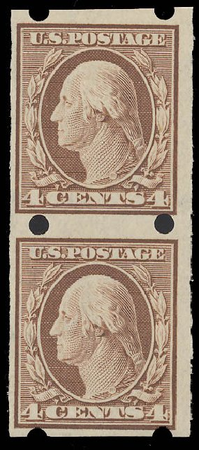 Costs of US Stamps Scott Catalog # 346 - 1909 4c Washington Imperf. Daniel Kelleher Auctions, Aug 2015, Sale 672, Lot 2656