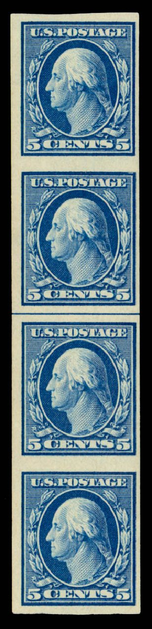 Prices of US Stamps Scott Catalogue # 347 - 5c 1909 Washington Imperf. Daniel Kelleher Auctions, Sep 2013, Sale 639, Lot 3449