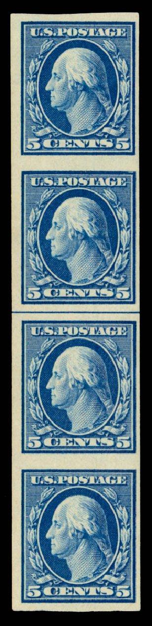 Prices of US Stamps Scott Catalogue # 347 - 5c 1909 Washington Imperf. Daniel Kelleher Auctions, Sep 2013, Sale 639, Lot 3449