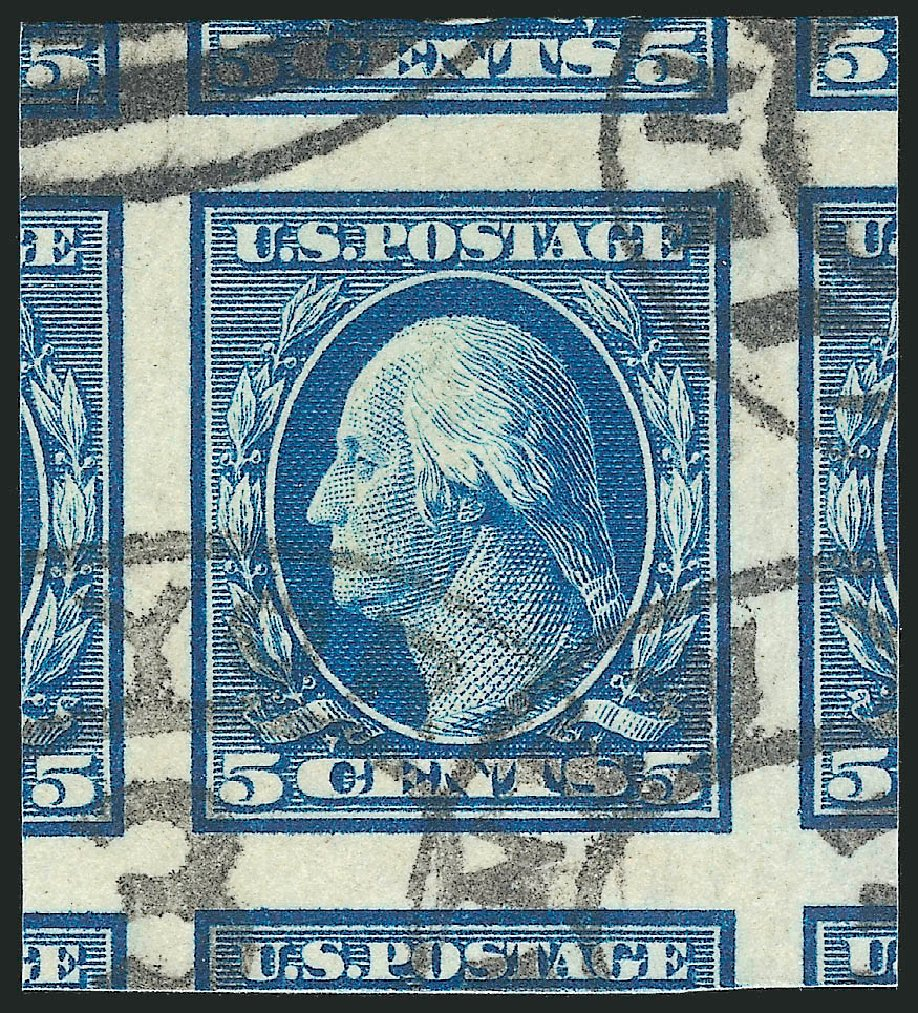 Values of US Stamps Scott Cat. #347: 1909 5c Washington Imperf. Robert Siegel Auction Galleries, Oct 2012, Sale 1032, Lot 3470