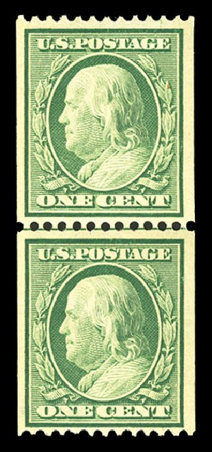 Costs of US Stamps Scott 348 - 1c 1908 Franklin Coil. Cherrystone Auctions, Jul 2015, Sale 201507, Lot 2119