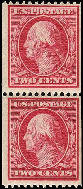 US Stamps Value Scott #349 - 2c 1909 Washington Coil. Regency-Superior, Nov 2014, Sale 108, Lot 728