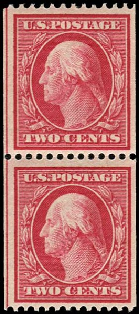 US Stamp Value Scott Catalog # 349: 2c 1909 Washington Coil. Regency-Superior, Nov 2014, Sale 108, Lot 729