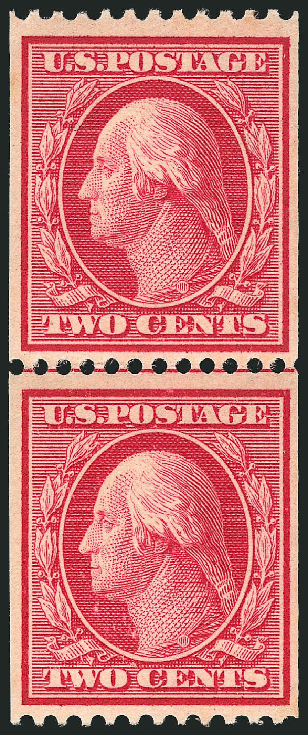 US Stamp Prices Scott Cat. # 349 - 1909 2c Washington Coil. Robert Siegel Auction Galleries, Apr 2015, Sale 1096, Lot 579