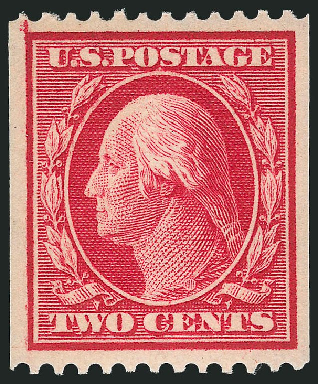 Values of US Stamps Scott Catalog #349 - 1909 2c Washington Coil. Robert Siegel Auction Galleries, Dec 2014, Sale 1090, Lot 1460