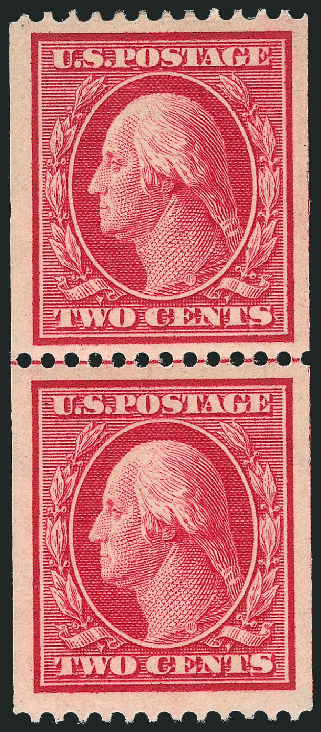 US Stamp Prices Scott Catalog 349 - 1909 2c Washington Coil. Robert Siegel Auction Galleries, Feb 2015, Sale 1093, Lot 114