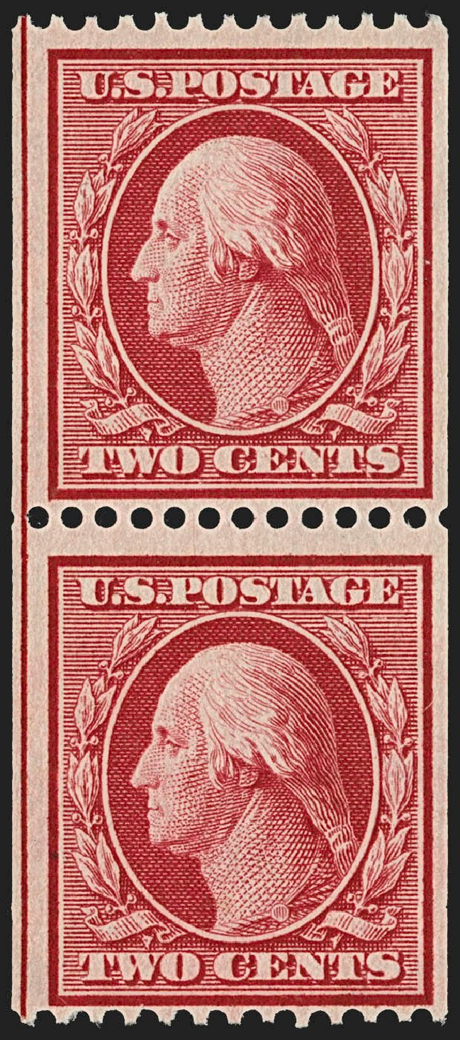 Price of US Stamps Scott Catalogue #349: 1909 2c Washington Coil. Robert Siegel Auction Galleries, Jul 2015, Sale 1107, Lot 425