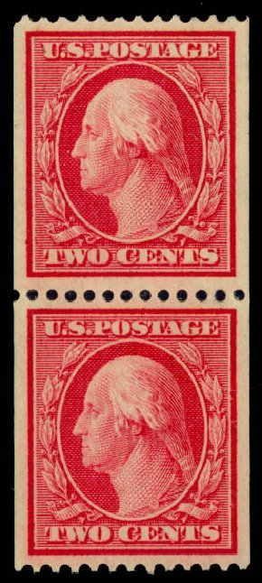 Costs of US Stamps Scott 349 - 2c 1909 Washington Coil. Daniel Kelleher Auctions, Sep 2014, Sale 655, Lot 412