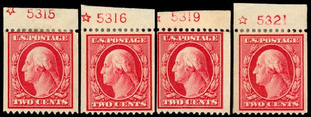 Prices of US Stamps Scott #349: 1909 2c Washington Coil. Daniel Kelleher Auctions, Sep 2014, Sale 655, Lot 413