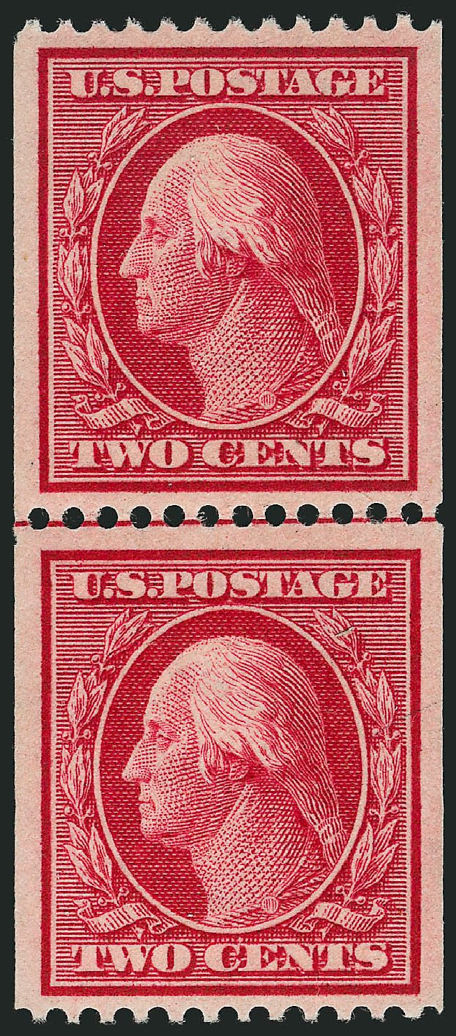 Values of US Stamp Scott Catalogue # 349: 2c 1909 Washington Coil. Robert Siegel Auction Galleries, Sep 2014, Sale 1078, Lot 483
