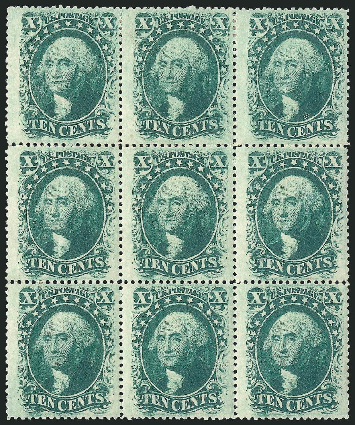 Cost of US Stamp Scott Catalogue #35: 1859 10c Washington. Robert Siegel Auction Galleries, Apr 2015, Sale 1096, Lot 79
