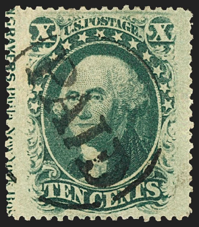 US Stamp Value Scott Cat. # 35 - 10c 1859 Washington. Robert Siegel Auction Galleries, Jul 2015, Sale 1107, Lot 99