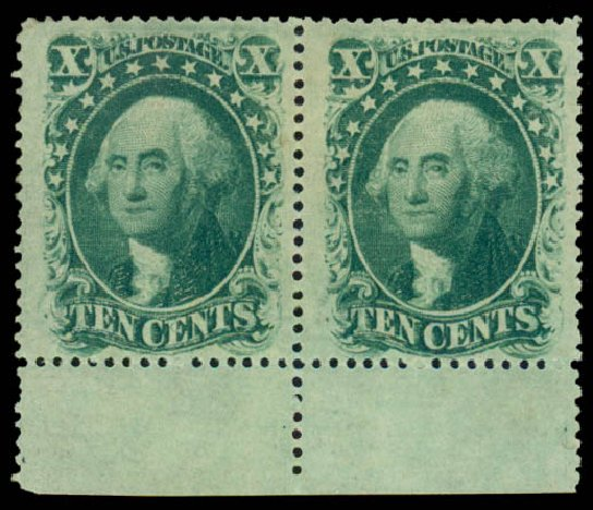 Price of US Stamp Scott Catalog #35: 1859 10c Washington. Daniel Kelleher Auctions, May 2014, Sale 652, Lot 121