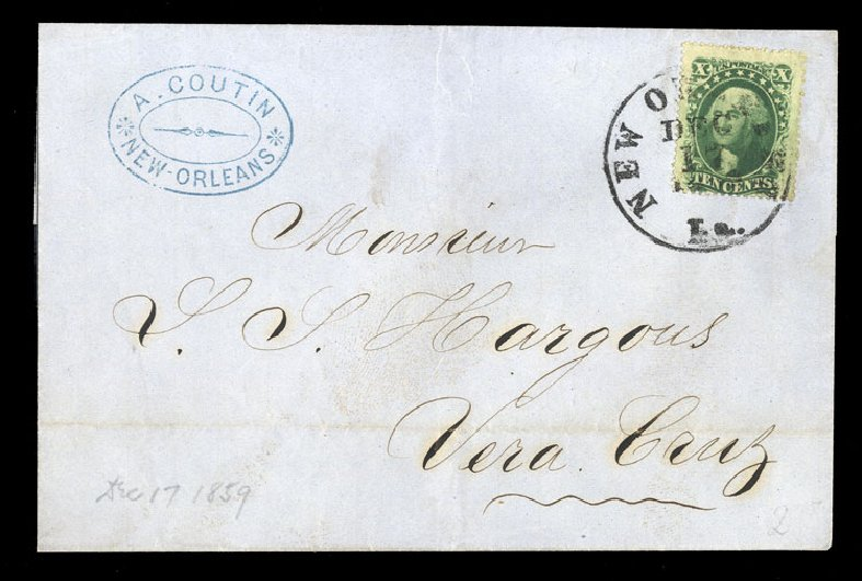 Price of US Stamp Scott Cat. # 35 - 1859 10c Washington. Cherrystone Auctions, Jan 2015, Sale 201501, Lot 94