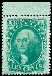 US Stamp Price Scott Catalogue 35: 1859 10c Washington. Schuyler J. Rumsey Philatelic Auctions, Apr 2015, Sale 60, Lot 1985