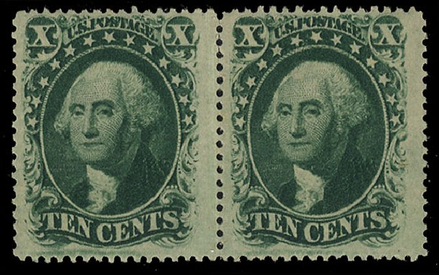 US Stamp Prices Scott Catalog 35: 1859 10c Washington. Cherrystone Auctions, Jan 2015, Sale 201501, Lot 93